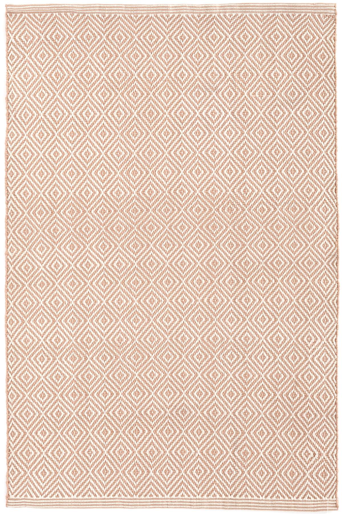 Petit Diamond Dusty Pink/Ivory Indoor/Outdoor Rug