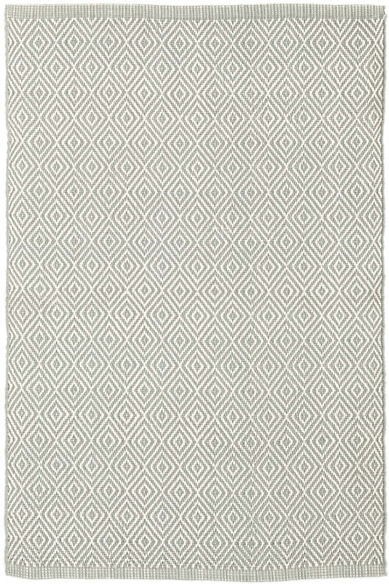 Petit Diamond Light Blue/Ivory Indoor/Outdoor Rug