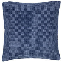 Petit Diamond Navy/Denim Indoor/Outdoor Pillow