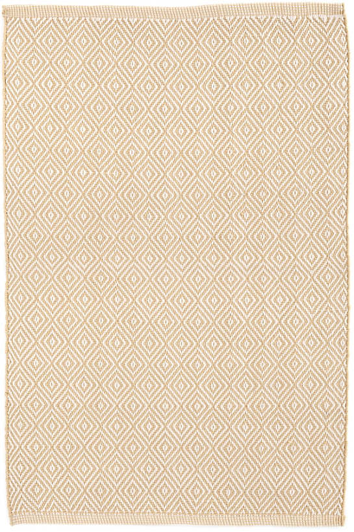 Petit Diamond Wheat/Ivory Indoor/Outdoor Rug