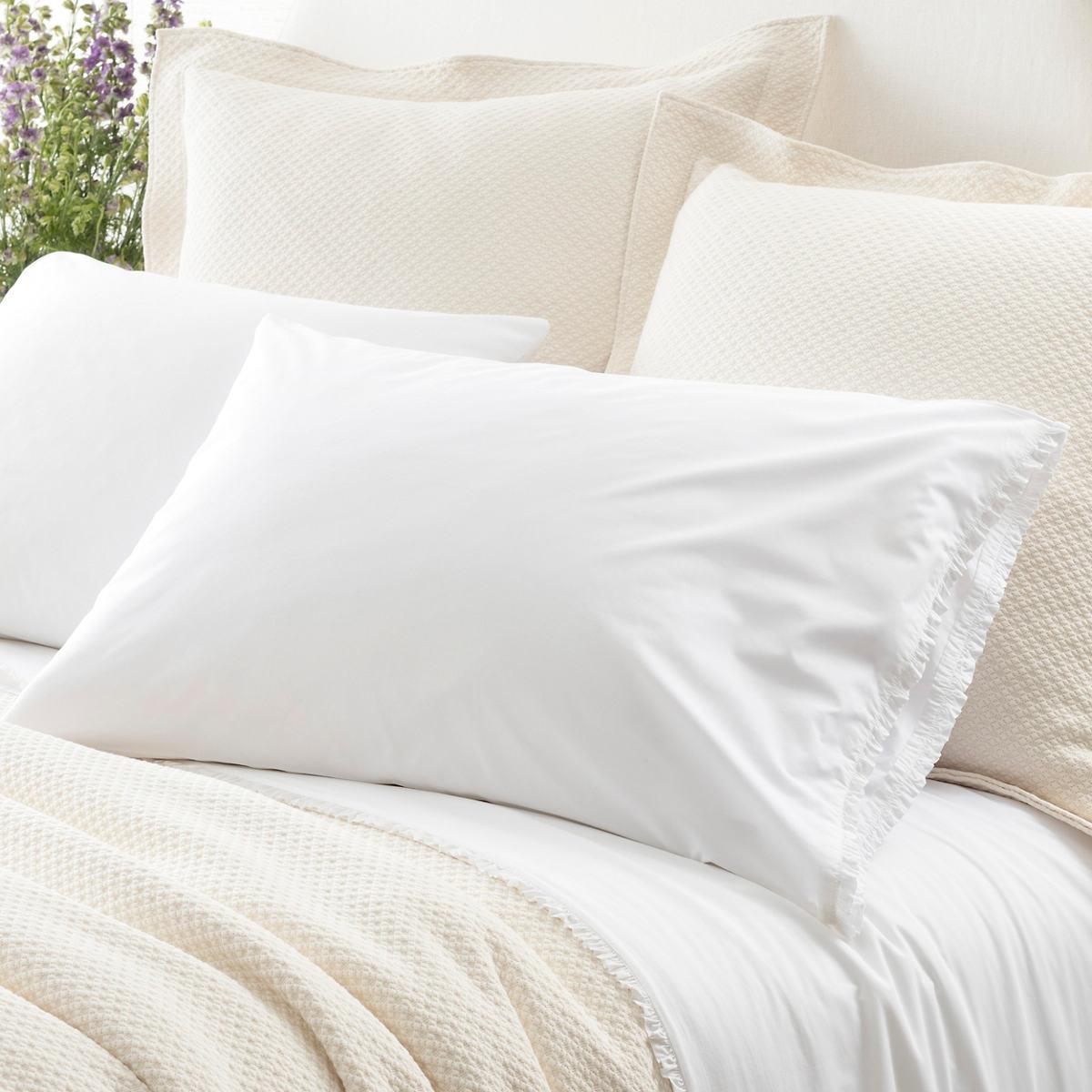 Petite Ruffle White Pillowcases (Pair)