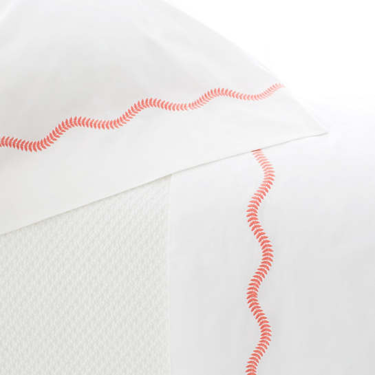Petite Vine Coral Pillowcases (Pair)