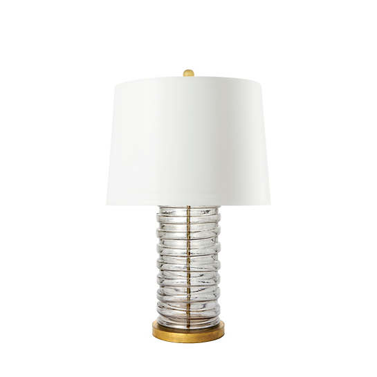 Pewter Luster Glass Lamp