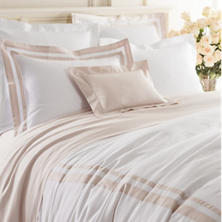 Piazza White/Rose Quartz Duvet Cover