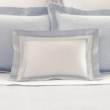 Piazza White/Delphinium Decorative Pillow