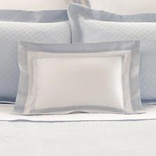 Piazza White/Delphinium Decorative Pillow