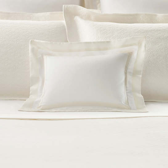 Piazza White/Ivory Decorative Pillow