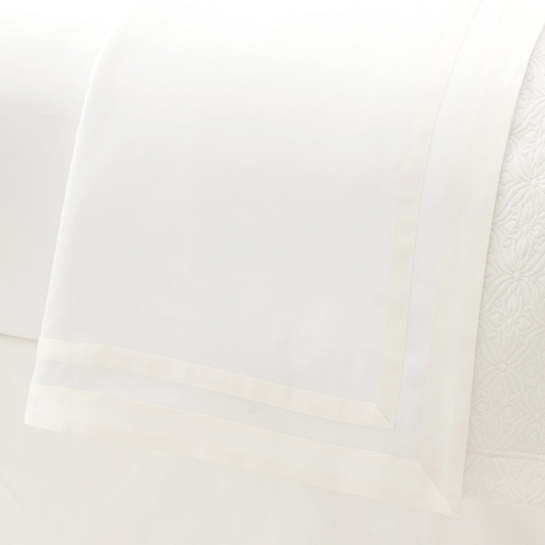 Piazza White/Ivory Flat Sheet