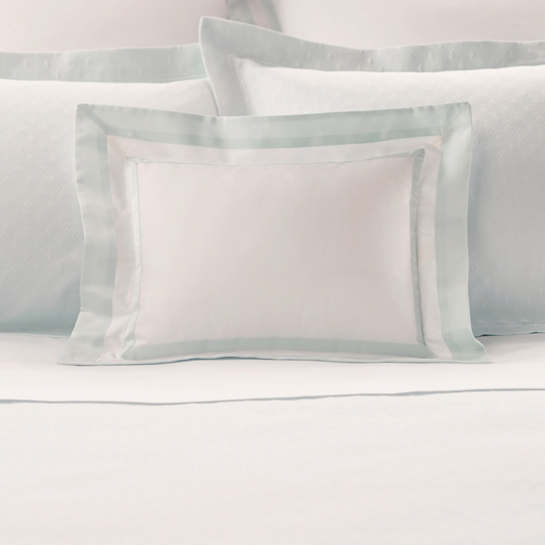 Piazza White/Pearl Blue Decorative Pillow