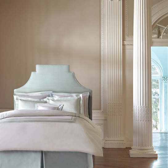 Piazza White/Pearl Blue Duvet Cover