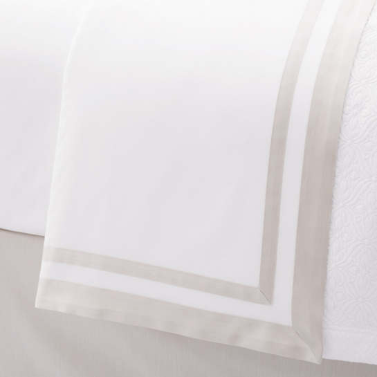 Piazza White/Sandstone Flat Sheet