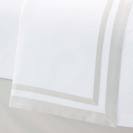 Piazza White/Semolina Flat Sheet