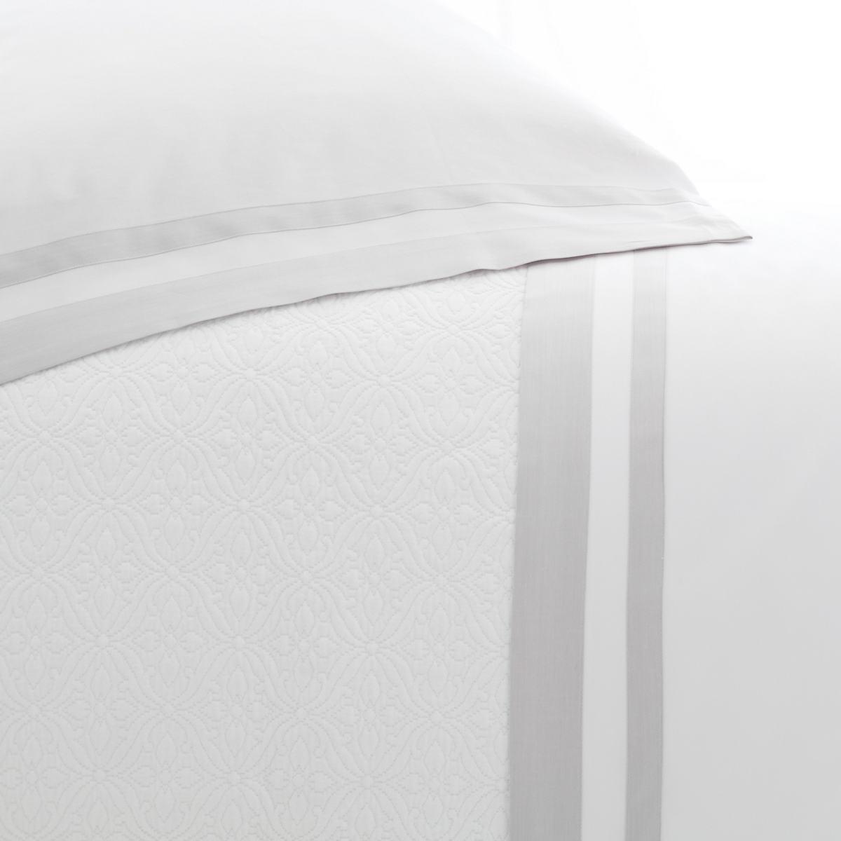 Piazza White/Zinc Pillowcases