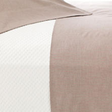 Pinstripe Crimson/Natural Pillowcases (Pair)