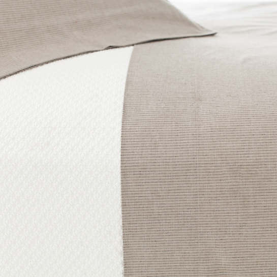 Pinstripe Java/Natural Sheet Set