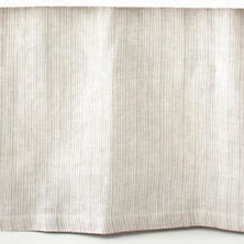 Pinstripe Linen Dove Grey Bed Skirt