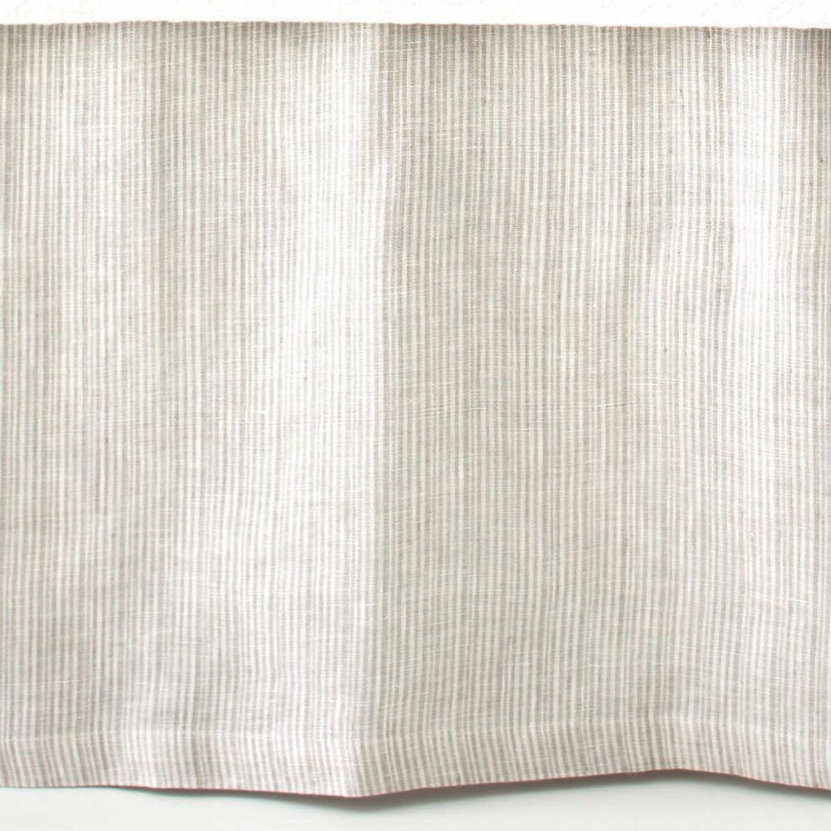 Pinstripe Linen Dove Grey Bed Skirt