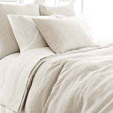 Pinstripe Linen Dove Grey Duvet Cover