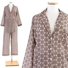 Pinwheel Plum Shirt Tail Pajama