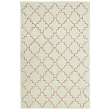 Plain Tin Celadon Wool Micro Hooked Rug