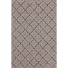 Plain Tin Grey Wool Micro Hooked Rug