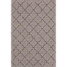 Plain Tin Grey Wool Micro Hooked Rug