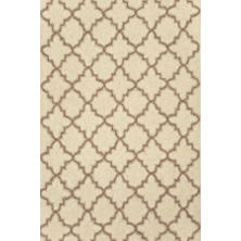 Plain Tin Ivory Wool Micro Hooked Rug