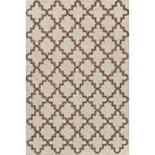 Plain Tin Oatmeal Wool Micro Hooked Rug