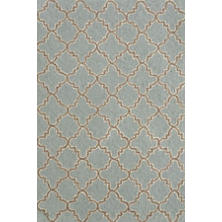 Plain Tin Slate Wool Micro Hooked Rug