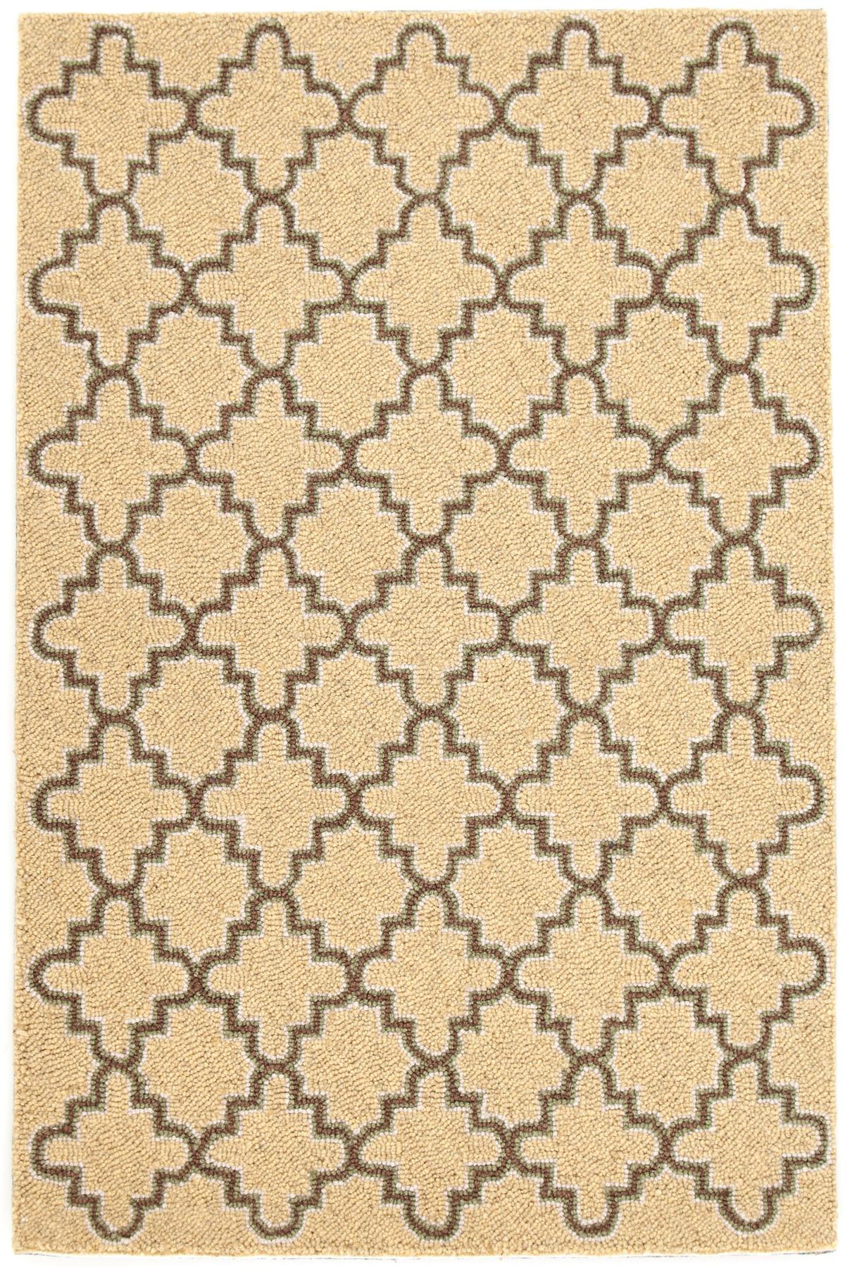 Plain Tin Wheat Wool Micro Hooked Rug