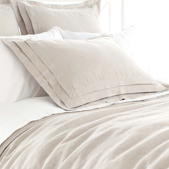 Pleated Linen Natural Sham