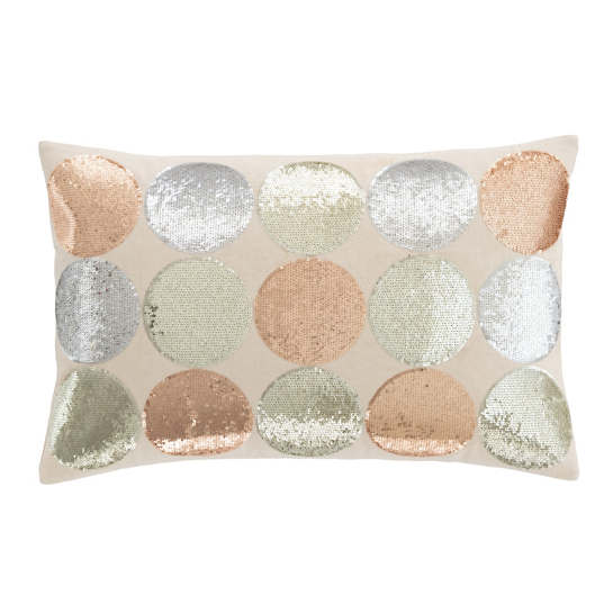 Polka Dot Sequin  Decorative Pillow