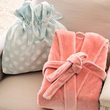 Polka Dot Sky/White Gift Bag