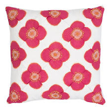 Poppy Pink Decorative Pillow