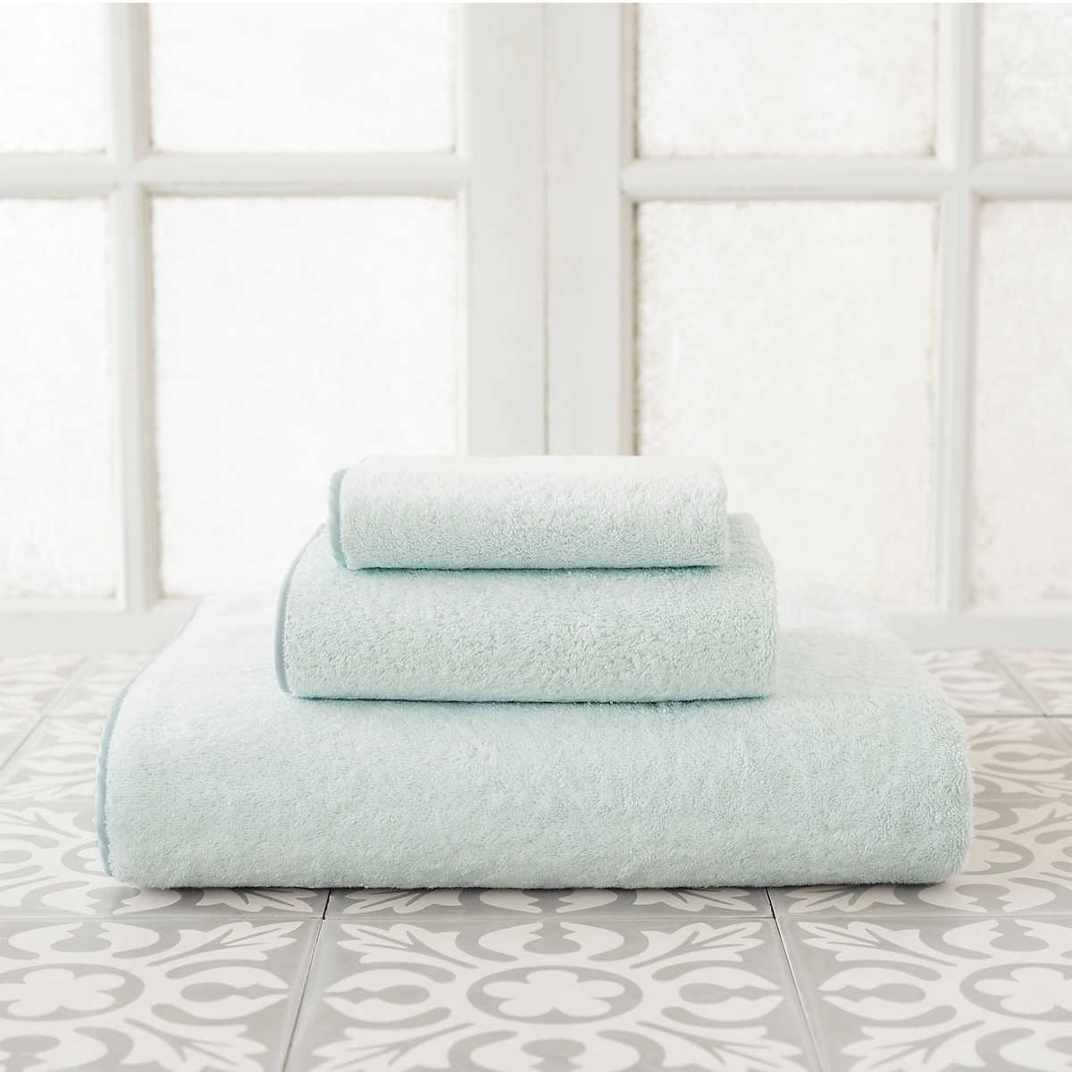 primo pearl blue towel