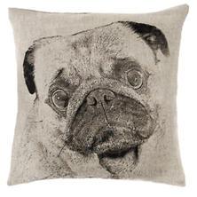 Pug Natural Decorative Pillow
