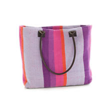 Quartz Stripe Woven Cotton Tote Bag