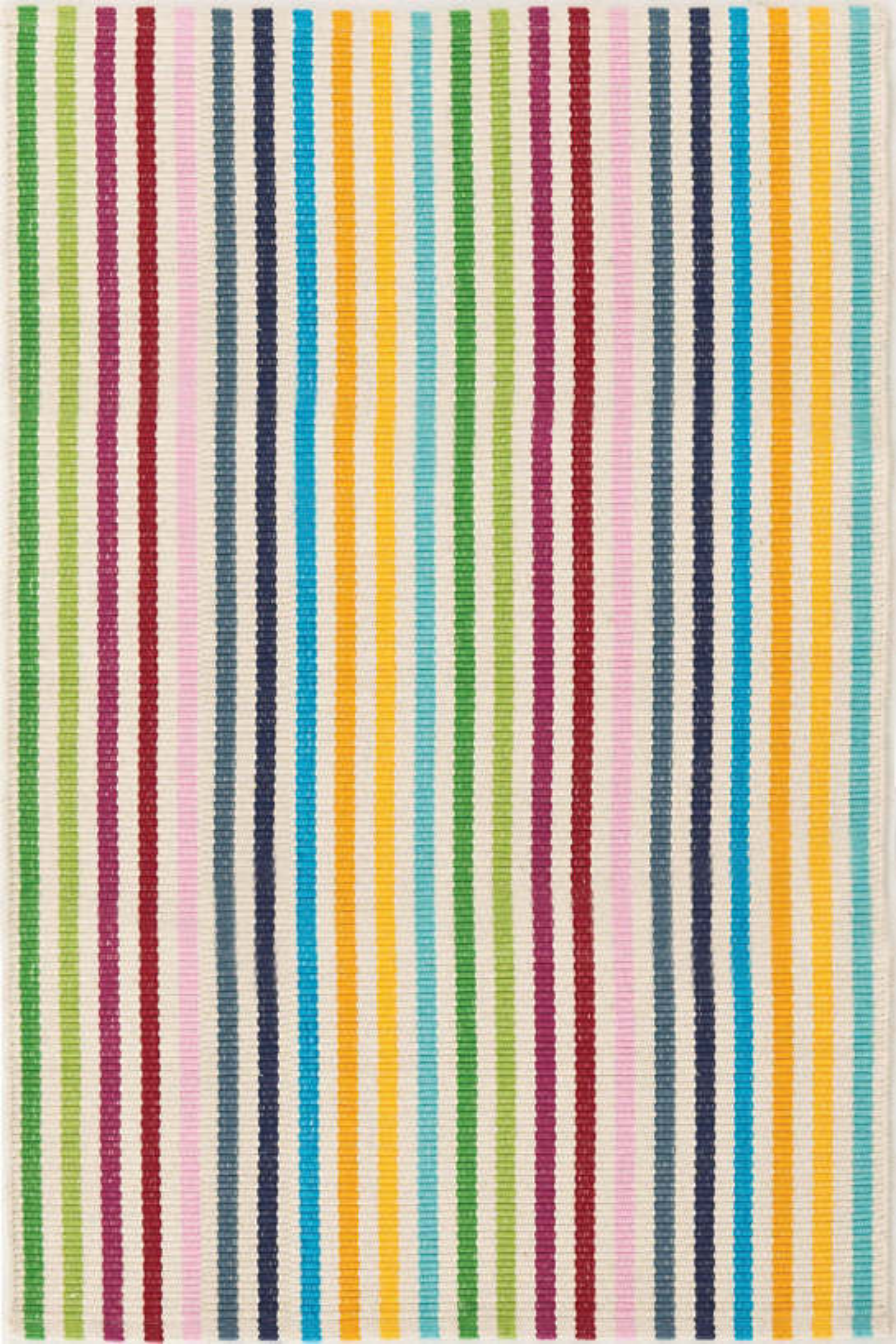 Rainbow Stripe Woven Cotton Rug