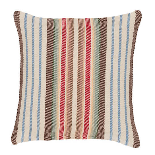 Ranch Stripe Woven Cotton Decorative Pillow Dash Amp Albert