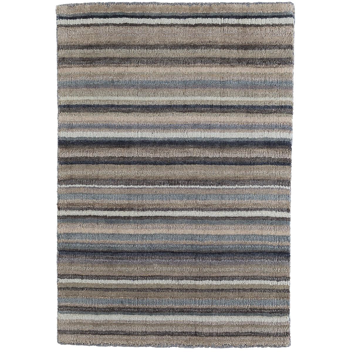 Ranger stripe loom knotted wool rug dash albert for Dash and albert blankets