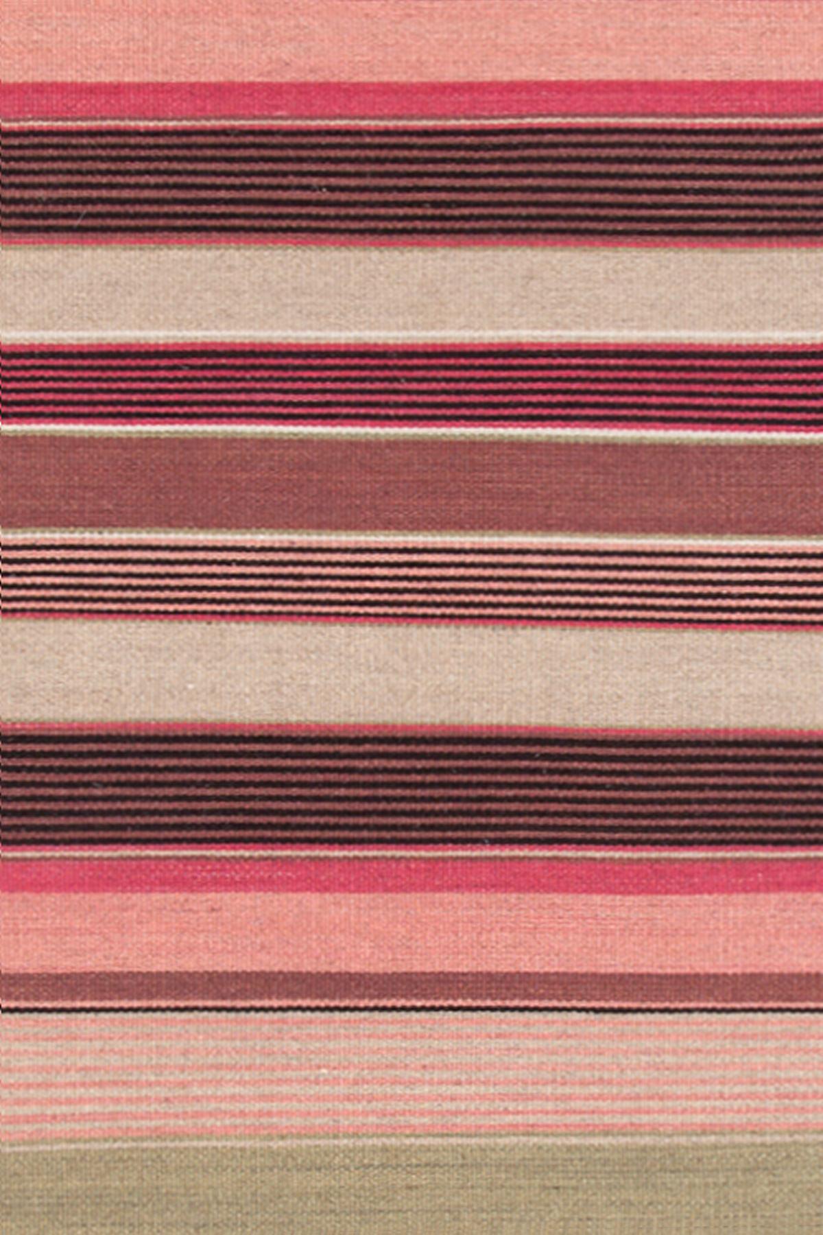 Razz Stripe Wool Woven Rug