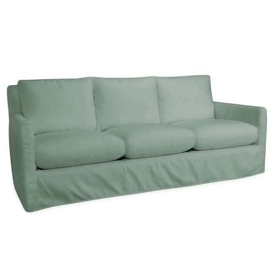 Relax To The Max 3 Seat Outdoor Sofa Light Blue Canvas