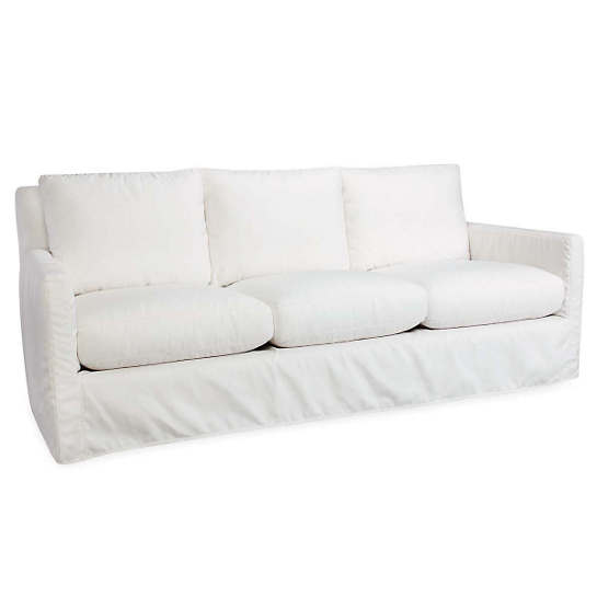 Charming Relax To The Max 3 Seat Outdoor Sofa Linen White Canvas