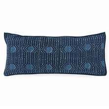 Resist Dot Indigo Decorative Pillow