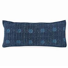 Resist Dot Indigo Decorative Pillow