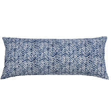 Resist Indigo Quilted Decorative Pillow