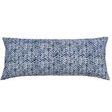 Resist Indigo Quilted Decorative Pillow