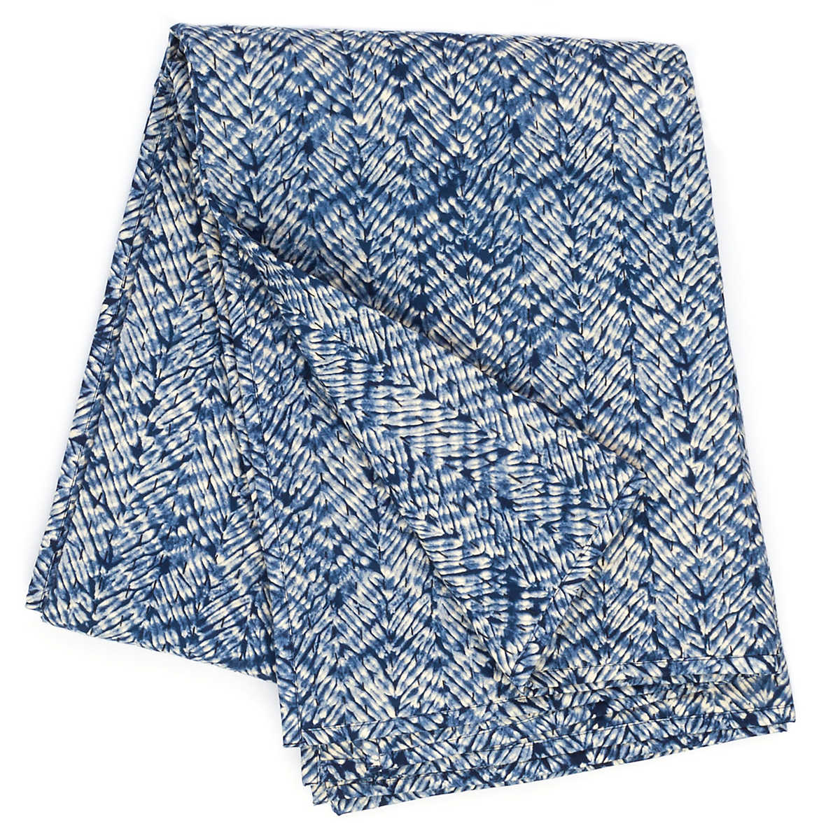 Resist Indigo Quilted Throw Pine Cone Hill