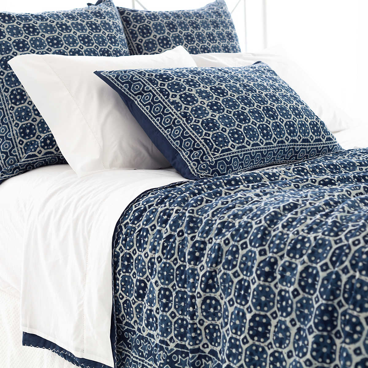 Delightful Indigo Bed Linen Part - 9: Annie Selke