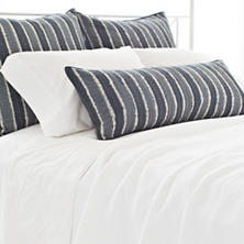 Resist Stripe Grey Sham
